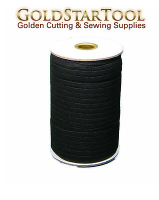 """BLACK Braided Elastic 1/4"""" Roll 144 Yards for sewing, Washable and dry cleanable"""