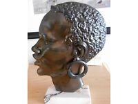 French Art Deco African Bronze Sculpture