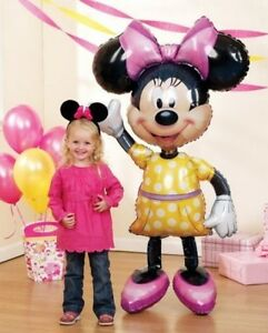 MINNIE-Mouse-Ears-54-Air-WALKER-AIRWALKER-JUMBO-Birthday-Party-Mylar-Balloon
