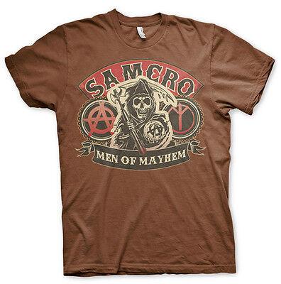 RO Men of Mayhem Grim Reaper Männer Men T-Shirt Braun Brown (Sons Of Anarchy T-shirts)