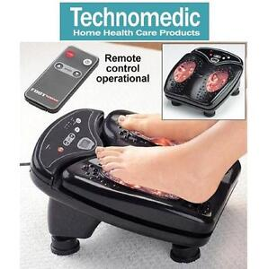 NEW TECHNOMEDIC FOOT MASSAGER DELUXE VIBRATING MASSAGER W/ REMOTE CONTROL 109141271