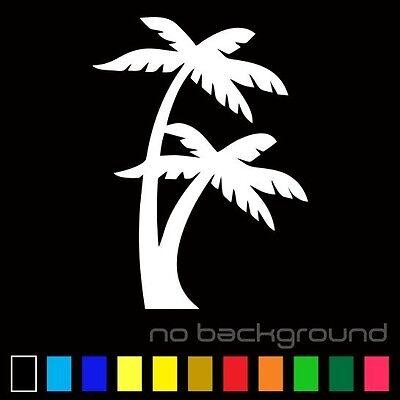 - Palm Tree Sticker Vinyl Decal Tropical Island Beach Ocean Wall Car Window