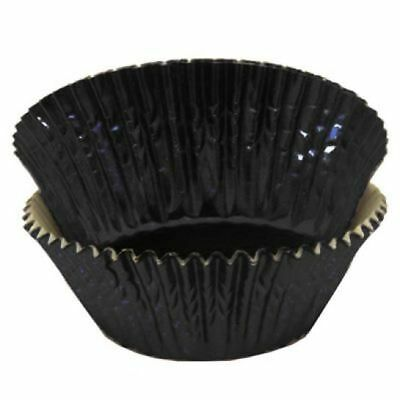 Black Foil Standard Cupcake Liners Baking Cups Grease Proof Graduation Wedding