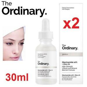 2 NEW BLEMISH FORMULA SKINCARE ITEM 200235769 30ml THE ORDINARY NIACINAMIDE 10% ZINC 1% COSMETICS ANTI-AGING