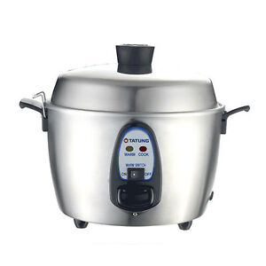 tatung 11 cup rice cooker 700w 110v * stainless steel * NEW