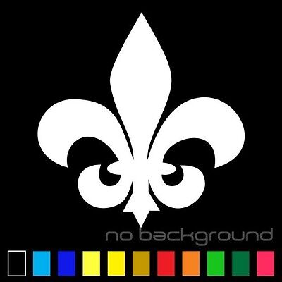 Fleur De Lis Sticker Vinyl Decal Die Cut - Lily Flower Car Window Wall Decor - Fleur De Lis Stickers