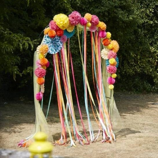 Wedding Party Ribbon Arch Arch And Ribbons Only Wedding