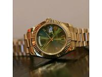 Rolex Day Date Presidential Gold Green Face With Box, Papers