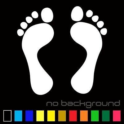 Foot Sticker Vinyl Decal People Feet footprint Paw Prints Tracks Car Wall - Footprint Stickers