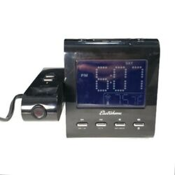 Electrohome EAAC601 Projection Alarm Clock w/ AM/FM Radio, Battery Backup, Temp.