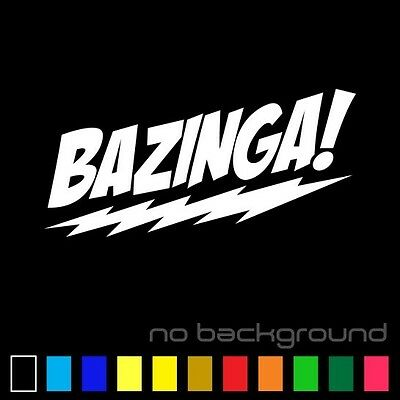 Bazinga Sticker Vinyl Decal - Big Bang Theory Sheldon Cooper