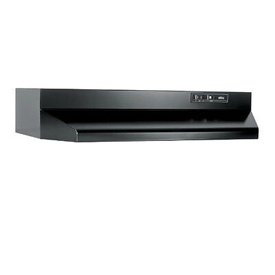 30 In. Two-Speed Ducted Under Cabinet Range Hood - Black 403023