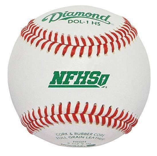 Diamond DOL-1 NFHS Official League Baseballs - Dozen, New
