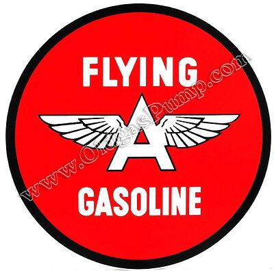 "FLYING A GASOLINE 12"" VINYL GAS & OIL PUMP DECAL DC-147"