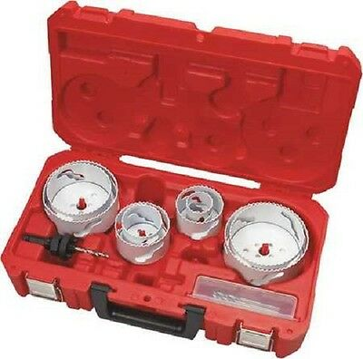 Milwaukee 49-22-4142 12pc Plumber Large Diameter Bi-metal Hole Saw Kit - Stock