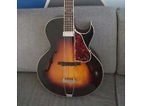 The Loar LH350-VS archtop electro acoustic hollow body guitar (RRP £599)