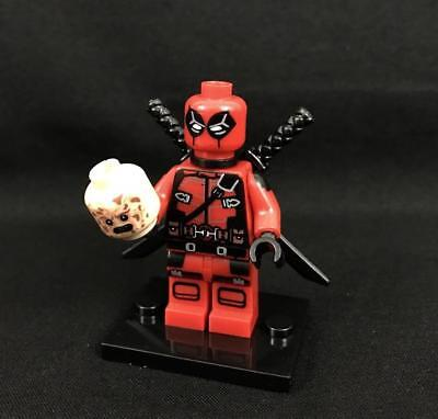 NEW Deadpool X Force Custom Minifigure Red and Black Marvel SuperHero For Lego