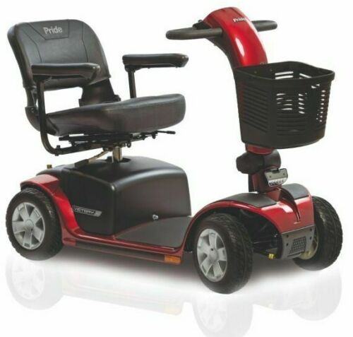 Pride Victory 10 4w Power Electric Mobility Scooter + Free Tsa Accessories