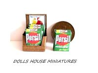 ARIEL FAIRY /& PERSIL Handmade 1:12th scale DOLLS HOUSE MINIATURE CLEANING SET