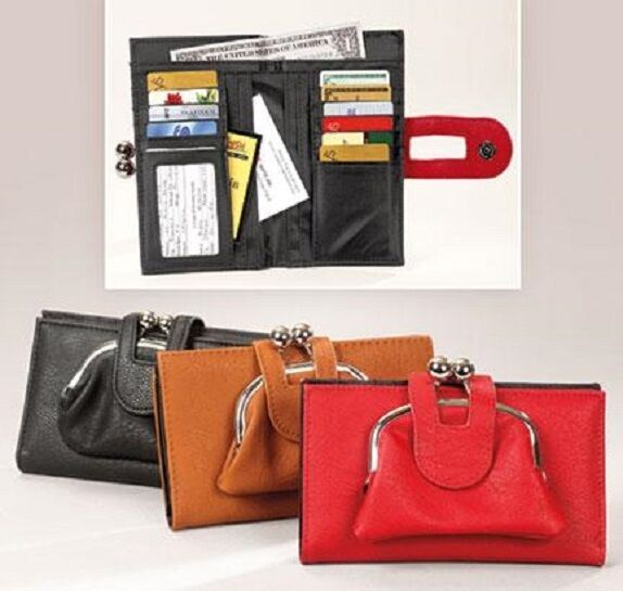 RFID pouch wallet Card Women Pouch Wallet Coin Bag Bank Clutch Leather 3 Colors Clothing, Shoes & Accessories