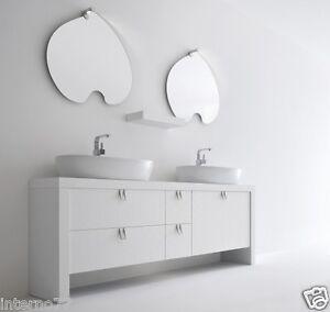 Mobile bagno lusso doppio lavandino bianco opaco mod - Bagno doppio lavandino ...