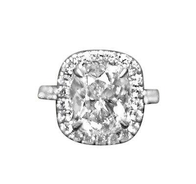 GIA CUSHION SHAPE DIAMOND J COLOR SI2 CLARITY GRADE DIAMOND ENGAGEMENT RING