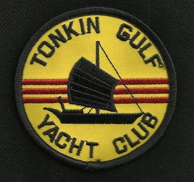 """US NAVY - TONKIN GULF YACHT CLUB - 3"""" ROUND - Vietnam War MILITARY PATCH"""