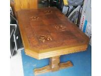 Large wood coffee table tiled