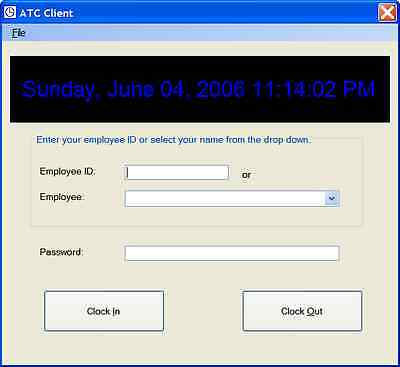 Business Employee Time Clock Program Reporting Microsoft Windows Pc Software