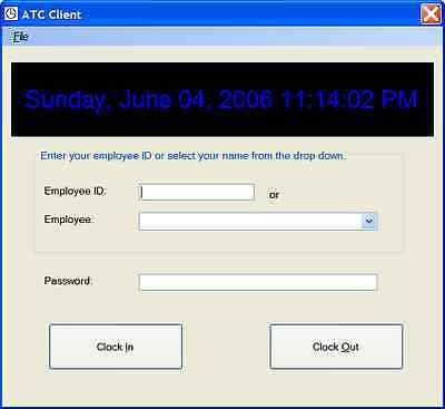 Business Employee Time Clock Program Reporting Microsoft Windows Pc Software