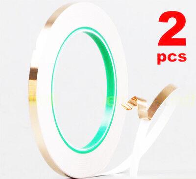 Two 6mm20m Conductive Copper Adhesive Foil Shielding High Heat Temperature Tape