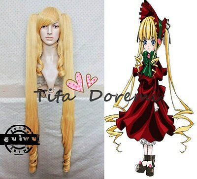 Rozen Maiden Pure Ruby Lolita Fashion Party Cosplay Wig Anime Halloween Haar (Halloween Maid Haar)