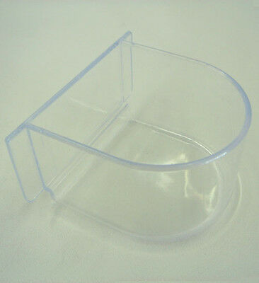 Lot of 4 Bird Cage Seed Water Feeder Cup - 4xC8054 Clear Plastic Cup-508