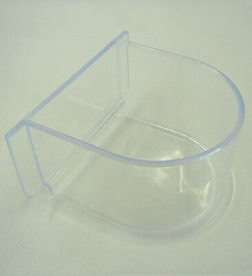 NEW Lot of 4 Bird Cage Seed Water Feeder Bird Cup Clear Plastic Cup-469