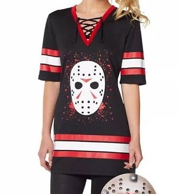Women's Sexy Miss Voorhees Friday The 13th Jason Dress Halloween Costume