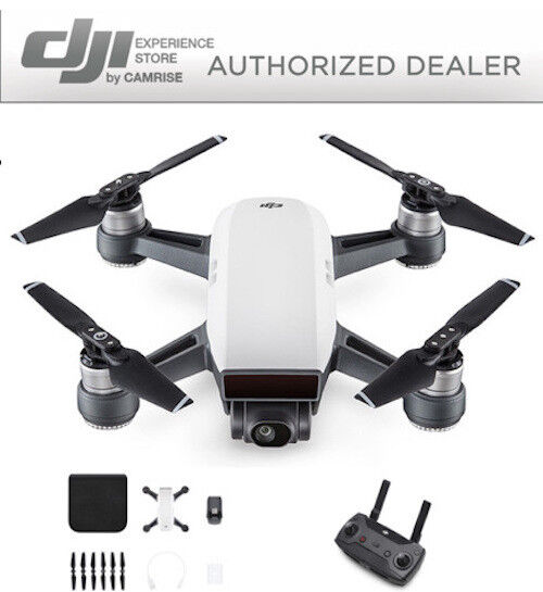 dji-spark-drone-quadcopter-white-cp-pt-000731-and-dji-remote-controller