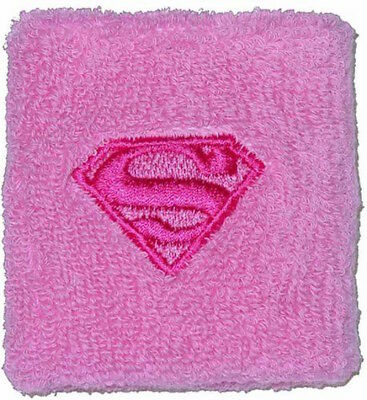 2 Packung Supergirl Superwoman Rosa Baumwolle Armband Schweißband Superman
