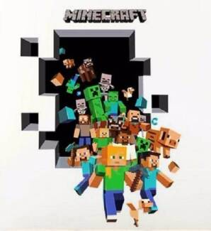 New Childrens Minecraft Creeper Removeable Wall Decals, Stickers Bomaderry Nowra-Bomaderry Preview