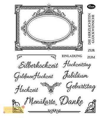 Viva Decor Silikon Stempel SET ANLASS FESTLICHE clear stamps,Hochzeit,Geburtstag