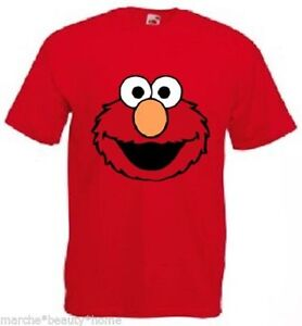 ELMO T-Shirt red mens High quality cotton top Large