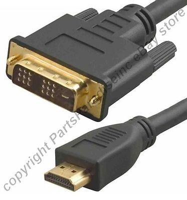 Lot4 10ft long DVI~HDMI Gold Cable/Cord HDTV/Plasma/TV/LED/LCD/DVR/DVD 1080p (Plasma-tv-led)