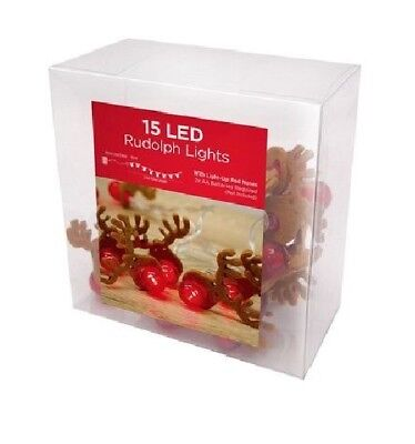 15 LED Rudolph Light Battery Operated Christmas Home Party Decoration Lights uk - Halloween Lights Decorations Uk