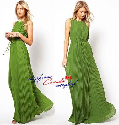 Evening Ball Gown Summer Beach Full-Length Green Dress Clearance/Free Shipping