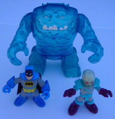 Imaginext DC Super Friend LOT MR FREEZE BATMAN Figure BLUE CLAY FACE ICE MONSTER