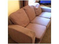 3 seater mink sofa