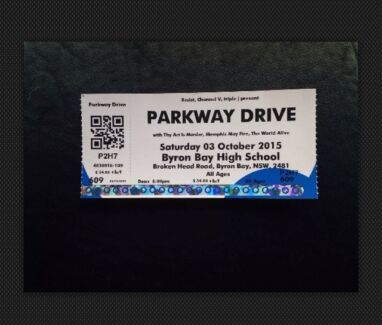 Parkway Drive Byron Bay Ticket Casino Richmond Valley Preview