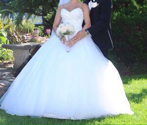 WOW princess wedding ballgown