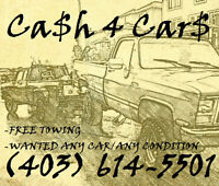 $ CASH TODAY GONE  TODAY ALL CARS TRUCKS $ 403 614 5501 $