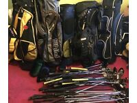 GOLF CLUBS AND BAGS (joblot)