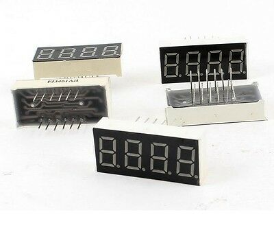 2pcs 0.4 Inch 4 Digit Led Display 7 Seg Segment Common Cathode -red